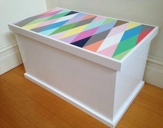 Toy Box Harlequin Design Toy Storage Toy by littlebigdesignsshop