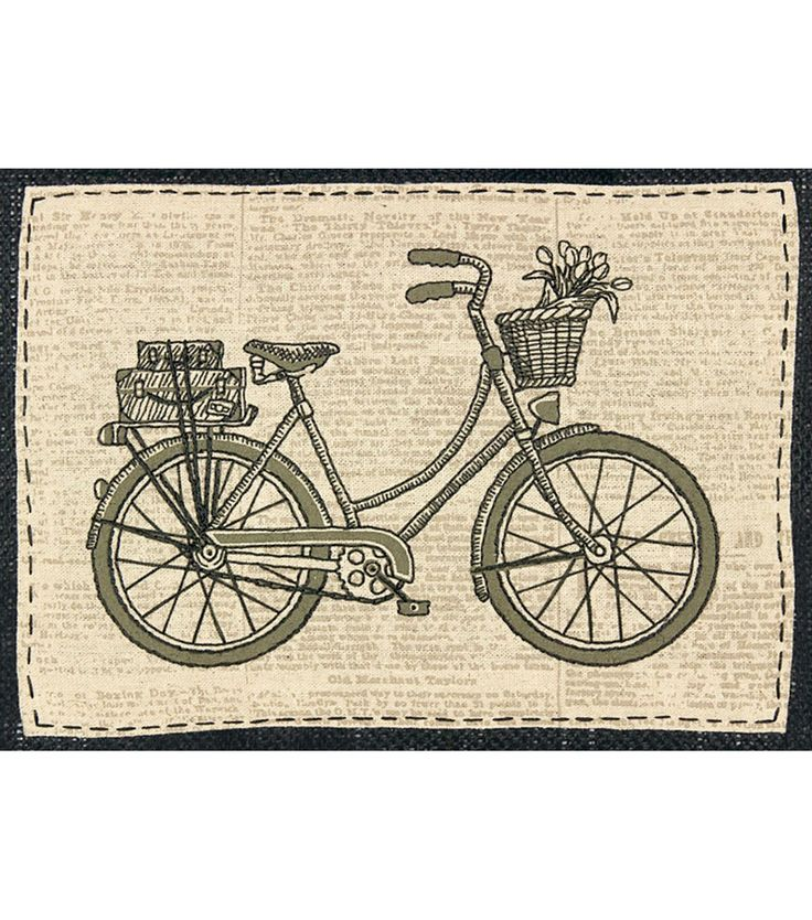 Dimensions Handmade Collection Stamped Embroidery Kit Classic Bicycle