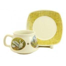 Scenes from Nature Cup & Saucer Set,  $14.00.  Order here: http://catalog.obitel-minsk.com/handmade-ceramics/ceramic-tableware.html?ceramics_type=553 #christmastime #xmas #giftideas #gift #souvenir #present #ceramic #clay #handmade #teaset #home #tea #warmly #cup #saucer #pottery