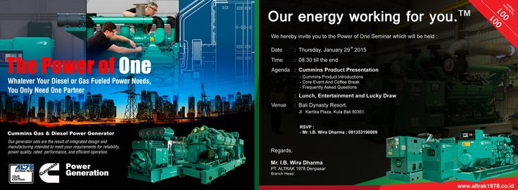 Denpasar Invitation Card Cummins Power Generation    @inside