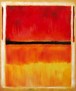 Untitled (Violet, Black, Orange, Yellow on White and Red), 1949  Mark Rothko (inspired by)