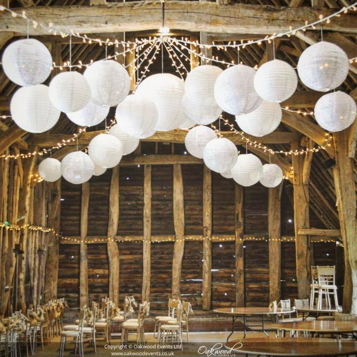 P O R T F O L I O // Fairy lights and white and lace lanterns for a beautiful #wedding at the #blackbarn at #rushallfarm   #fairylights #weddinglighting #weddinggoals #barnvenue #rusticwedding #pretty #receptiondecor #lanternlove #paperlanterns #whitewedding #instawedding #summerwedding #2017trends