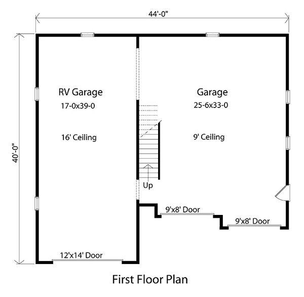 Garage Plans Blueprints 26 X 36 3 Car Traditional