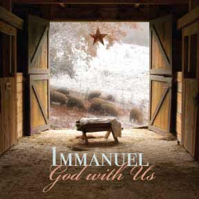 Remember Whose Gift was the first Christmas gift!  Immanuel God with Us by PrintersDaughter on Etsy, $47.00: