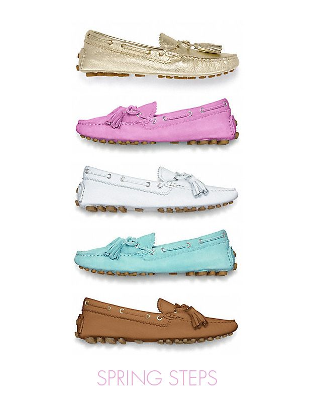 Coach driving mocs. Yes please in every color!