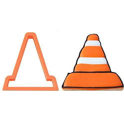 Traffic Cone Cookie Cutter 4 in…