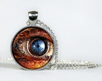 Steampunk pendant. Steampunk necklace. Mechanism. Steampunk jewelry. Gifts for her. Gifts for him.