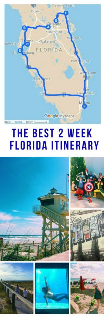 Two weeks in Florida with kids, our 14 day Florida itinerary. We loved our road trip through this state and visited Orlando, Tampa, St Petersburg, Pass-A-grille, Miami, Celebration, New Smyrna Beach and more. With tons of attractions suggested in all of the locations this is all you need to plan a great trip to Florida.