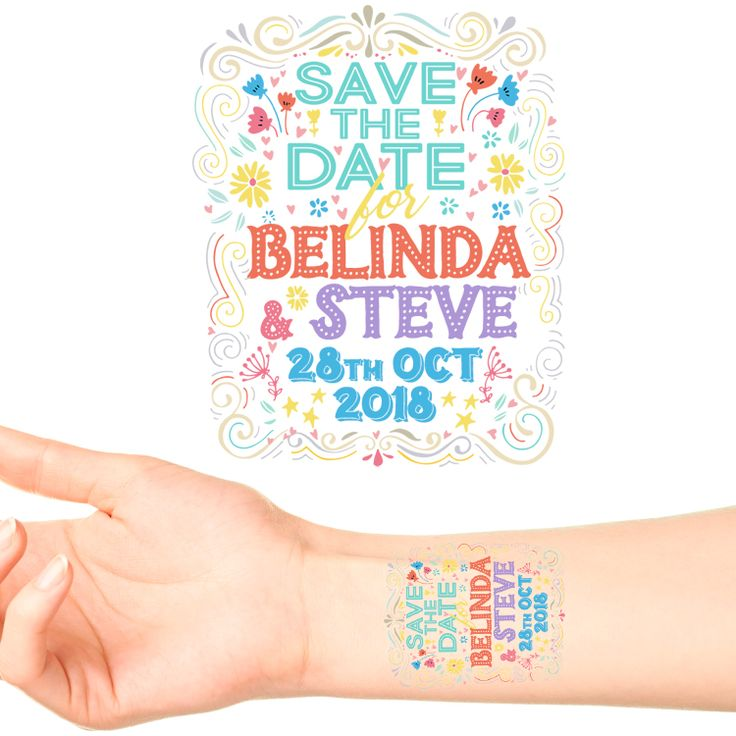 Save The Date Tattoos #8 (20 pack)