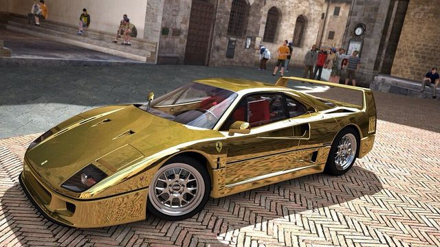 Gold Ferrari F40 | Pinnacle Performance Rides | Autos ...