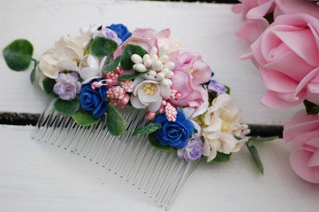 Kwiatowy grzebyk do włosów - alice_silverstone - Grzebyki do włosów
