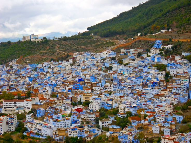 Country Holiday, Chefchaouen, Morocco, City panorama