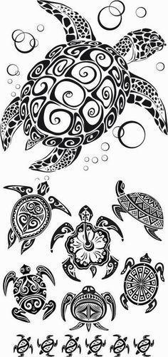 Turtle tattoo stencils #polynesiantattoosturtle #polynesiantattooswomen
