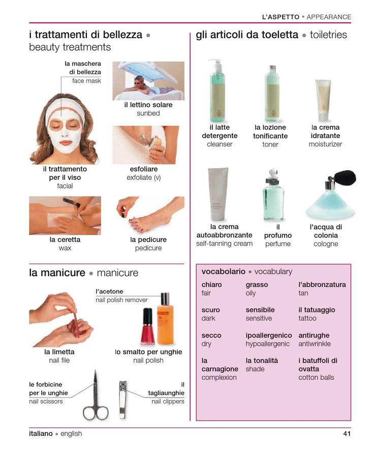 Learning Italian - Beauty Treatments