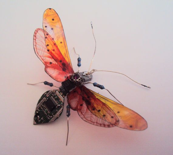 The Purple Jewelled Winged Ant by DewLeaf on Etsy