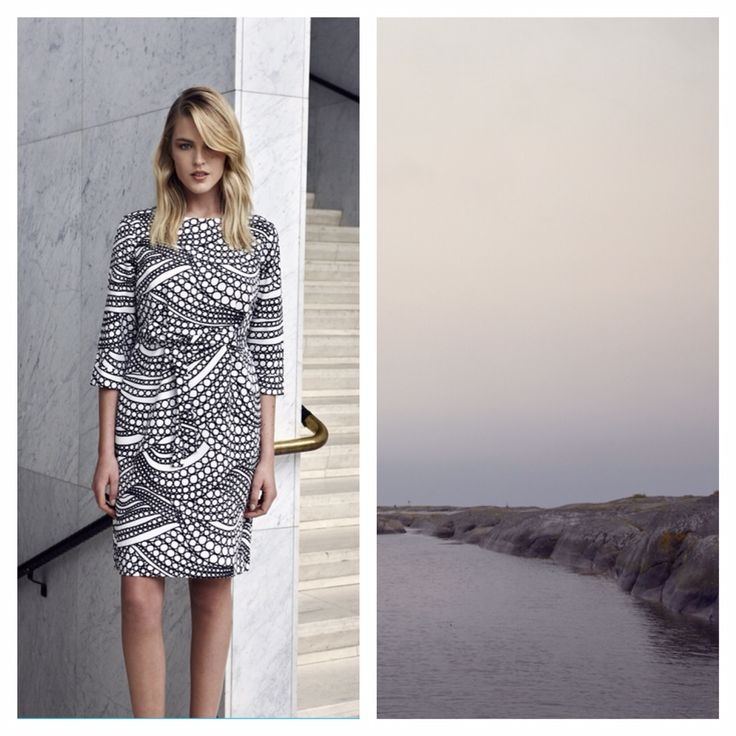 This spring, Marimekko invites you to discover your own mindscape. It might be a place by the sea, below the waves, or hidden in a moss-covered forest. Somewhere far away from city life and its hurried rhythm. A haven where you can feel free and experience what matters most in life.  Kuplahdus dress. #mindscapes #marimekko #ss15