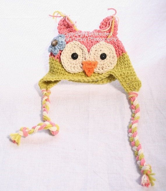 Crochet Baby Hat Owl Hat Baby Girl Owl Baby Hats Photo by azek2000, $23.00