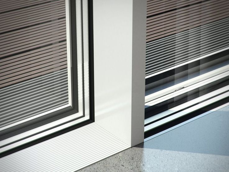 Porta-finestra a taglio termico scorrevole in alluminio Schüco ASS 77 PD.HI - Schüco