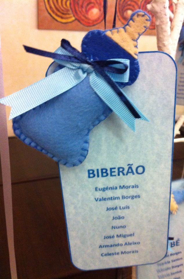 Marcador com nomes!!! Biberon!!! Batizado Simão Borges 12/07/2015!!!