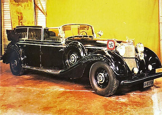 mercedes benz w150 770k adolf hitler is now on display in france perfect car pinterest. Black Bedroom Furniture Sets. Home Design Ideas