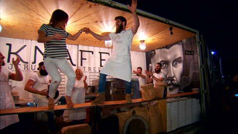 The bearded bakers are making a name for themselves and they might be popping up near you. Keep an eye out for their quirky shipping container and get a taste of the Jerusalem street food, knafeh. #knafeh #streetfood #foodie #Jerusalem #Sydney #popup #beard #beardedbakers