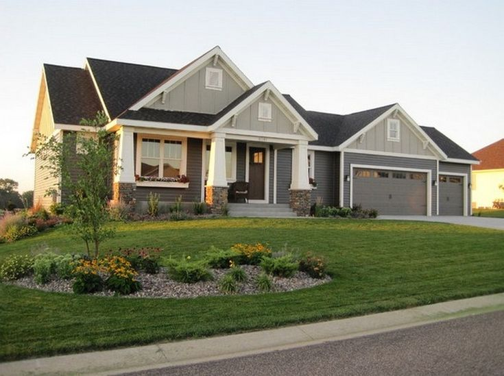 17 best images about exterior on pinterest exterior for Craftsman exterior color schemes