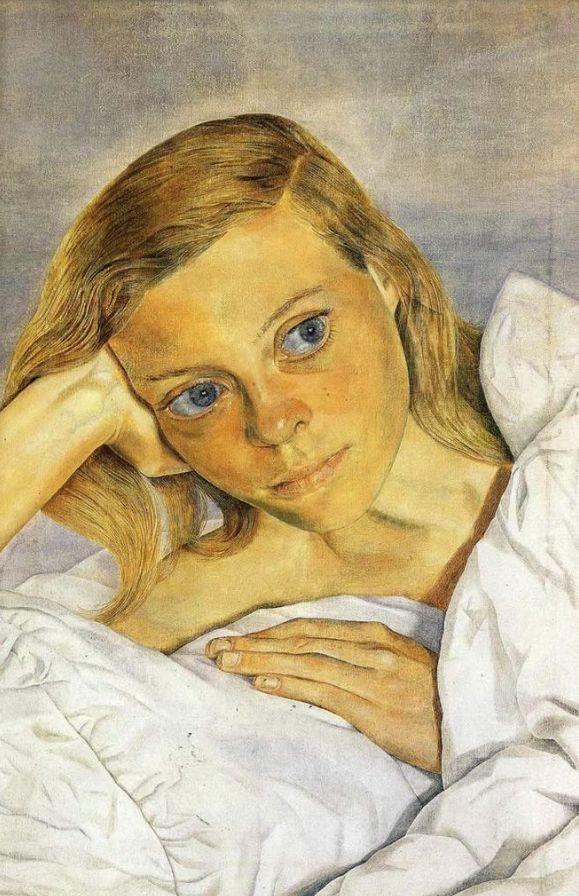 Lucian Freud       Girl in a Bed (Lady Caroline Blackwood)