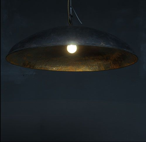large copper pendant light by emery & cie