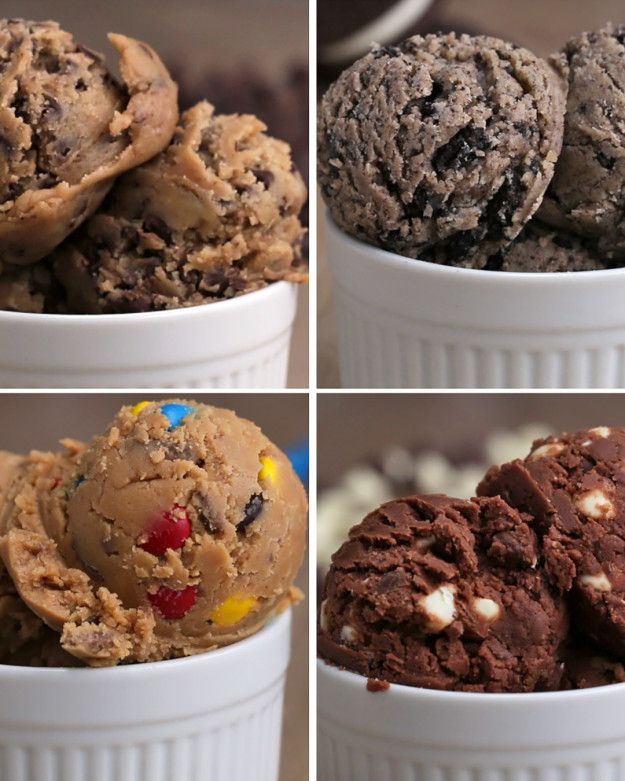 Edible Cookie Dough Four Ways