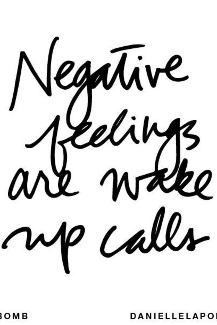 Dealing with negative feelings and emotions