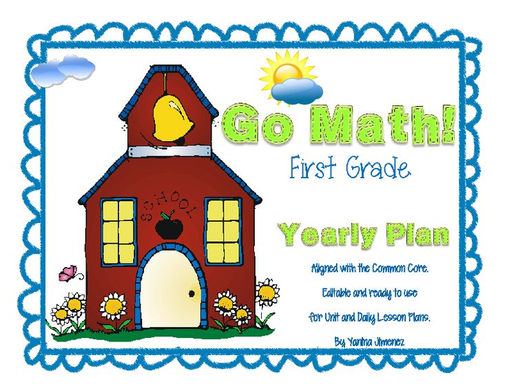 Go Math! 1st grade EDITABLE Annual Plan. Ready to use for unit and lesson plans. Huge time saver!!!