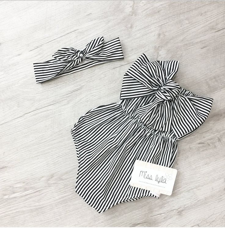Baby Girl Romper, baby girl clothes, Baby Romper, Photography prop, Baby Bodysuit, Black white striped, Birthday outfit, babyshower gift 1