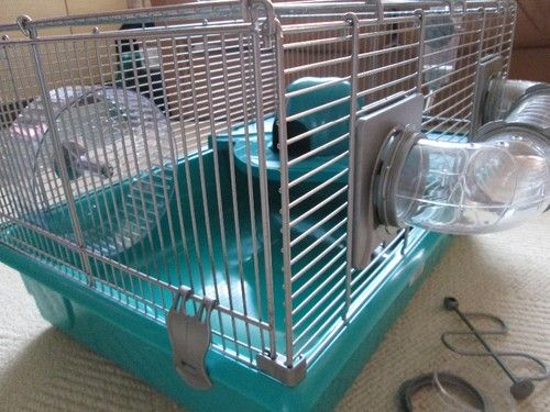 Pets at home Medium Hamster Cage Turquoise Pick and Mix