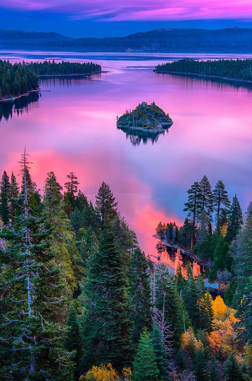 Lake Tahoe, Sierra Nevada, California, USA                                                                                                                                                      More