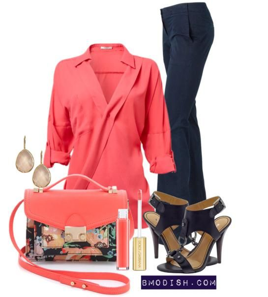 coral pink blouse for spring and summer <3 Win $ 50 Sephora Gift Card Giveaway on Bmodish.com. It will be ends on June, 23th 2013
