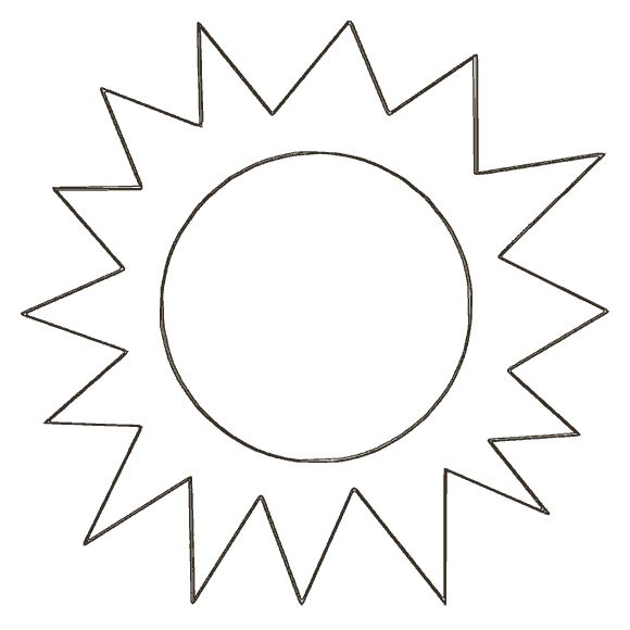 sun template | Sun template, Sun coloring pages