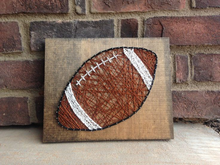 Football String Art Wood Sign Sports Home Decoration Boys Room Decor Coaches Gift Teachers Gift Football Season Fathers Day Wall Hanging