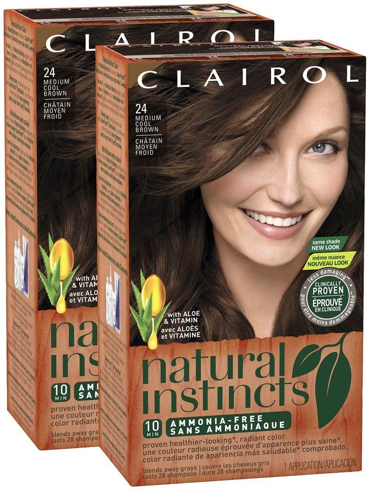 Clairol Natural Instincts, 024, Clove, Med Cool Brown, 2 pk. Clairol Natural Instincts, 024, Clove, Med Cool Brown, 2 pk.
