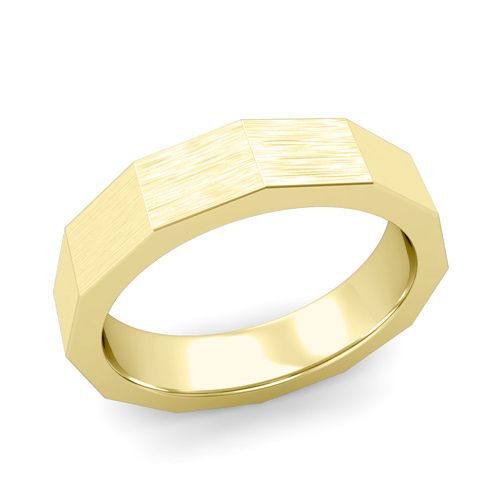 This brushed finish modern mens wedding band set in a gold comfort fit band  from My Love Wedding Ring is striking and bold that is perfect as an  anniversary  Best 25  Modern mens wedding bands ideas on Pinterest   Men  . Modern Wedding Bands. Home Design Ideas