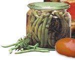 Fasole verde in saramura pentru iarna