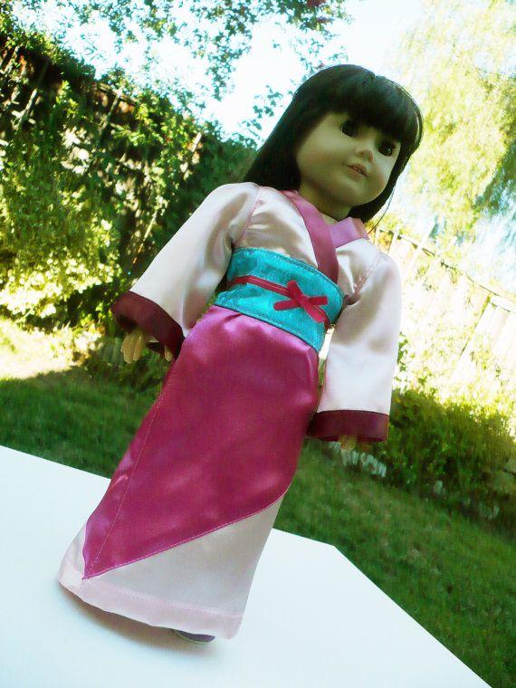 american girl doll clothes - Mulan costume for Halloween, Disney Princess.
