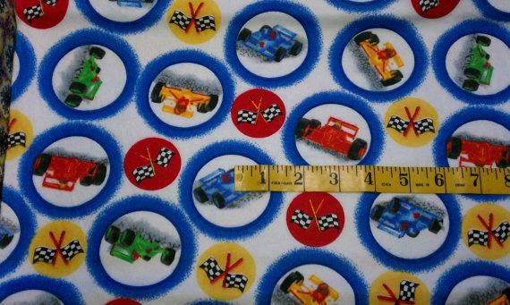 Fabric Flannel Race Car