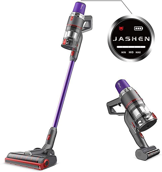 Amazon Com Jashen V16 Cordless Vacuum Cleaner 350w Strong Suction Stick Vacuum Ultra Quiet Handheld Cordless Vac In 2020 Vacuum Cleaner Cordless Vacuum Stick Vacuum