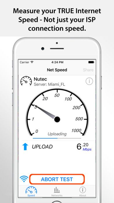 Net Speed Pro - Mobile Internet Performance Tool on App Store:   Net Speed Pro is a IT utility app to determine your TRUE Internet download upload and latency (response) or ping with one-tap ease. After the test ...  Developer: Yuhi Dev  Download at http://ift.tt/1tiAYMP