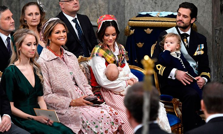 """Mom-of-two Princess Madeleine, second from left, who married British American financier Chris O'Neill in 2013, revealed her third pregnancy in August. """"Chris and I are thrilled to announce that I am expecting,"""" the 35-year-old shared on her Facebook page. """"We look forward to four becoming five!""""    Photo: Getty Images"""