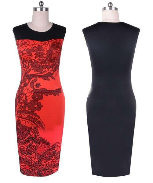 red party dress for woman