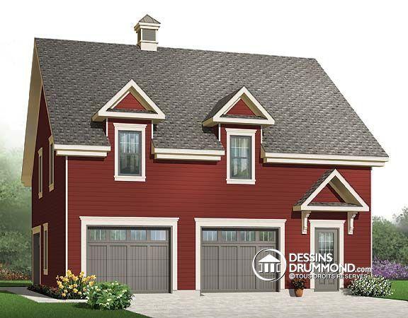 Charming Plan De Garage W3983