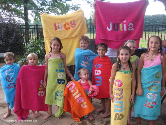 Personalized fabric applique towel