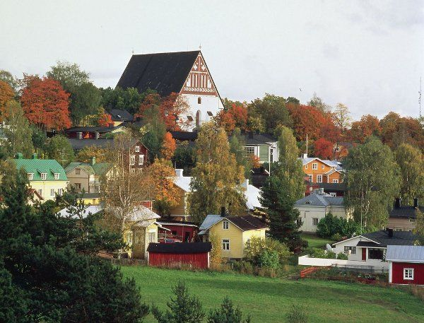 Old town, Porvoo: My mother's family originally come from this riverside town in southern finland, the church on the hill is where my grandparents got married