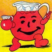 The Kool Aid Man =) Soda was for special, but Mom would make Kool Aid every day!
